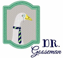 Dr Gooseman embroidery design