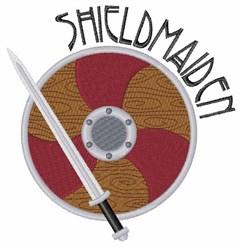 Shieldmaiden embroidery design