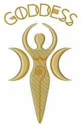 Goddess embroidery design