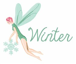 Winter Fairies embroidery design