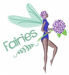 Fairies embroidery design