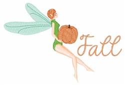 Fall Fairies embroidery design