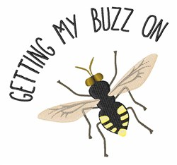 Getting Buzz embroidery design