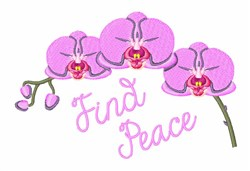 Find Peace embroidery design