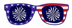 Patriotic Sunglasses embroidery design