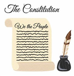 The Constitution embroidery design