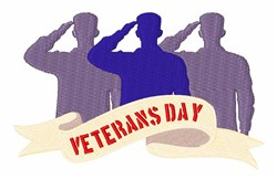 Veterans Day Salute embroidery design