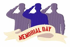 Memorial Day Salute embroidery design