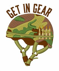 Get In Gear embroidery design