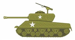Battle Tank embroidery design