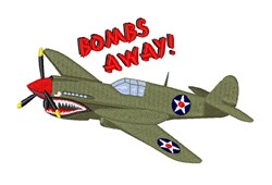 Bombs Away embroidery design