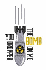 Dropped Bomb embroidery design