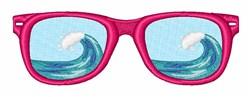 Beach Sunglasses embroidery design
