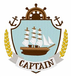Captain Crest embroidery design