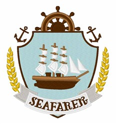 Seafarer Crest embroidery design