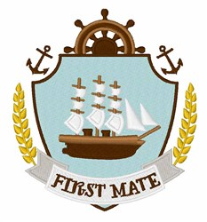 First Mate Crest embroidery design