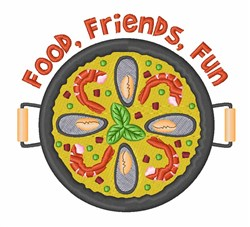 Food Friends Fun embroidery design