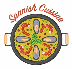 Spanish Cuisine embroidery design