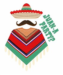 Juan A Party embroidery design