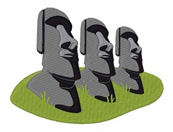 Easter Island embroidery design