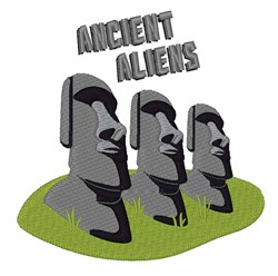 Ancient Aliens embroidery design