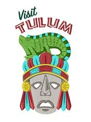 Visit Tulum Mask embroidery design