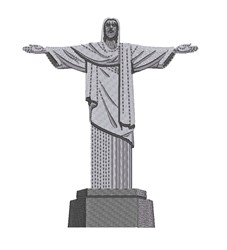 Jesus Statue embroidery design