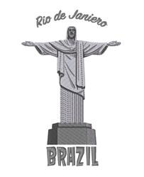 Rio De Janeiro Statue embroidery design