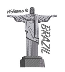 Welcome To Brazil Statue embroidery design