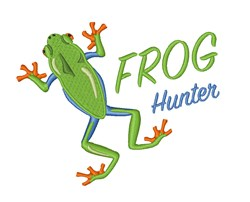 Frog Hunter embroidery design