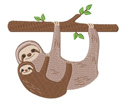 Sloths In Tree embroidery design