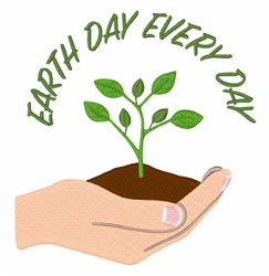Earth Day Every Day embroidery design