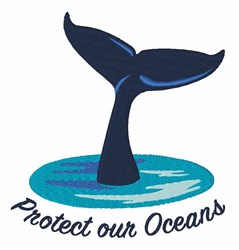 Protect Our Oceans embroidery design