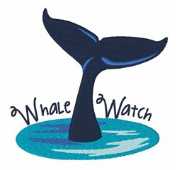 Whale Watch embroidery design