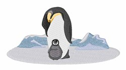 Penguins embroidery design