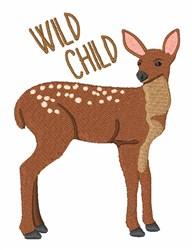 Wild Child Deer embroidery design