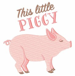 This Little Piggy embroidery design