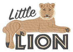 Little Lion embroidery design