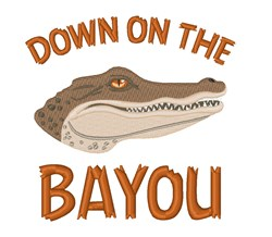 On The Bayou  embroidery design
