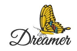 Butterfly Dreamer embroidery design