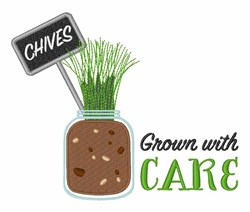 Grown With Care embroidery design
