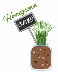 Homegrown Chives embroidery design