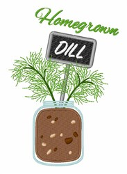 Homegrown Dill embroidery design