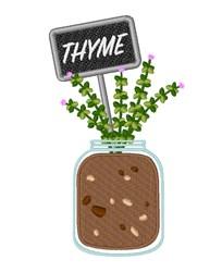 Thyme Garden embroidery design