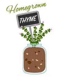 Homegrown Thyme embroidery design