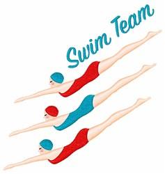 Swim Team embroidery design