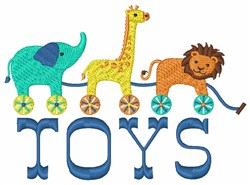Animal Toys embroidery design