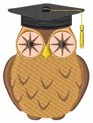 Education Owl embroidery design