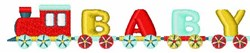 Baby Train embroidery design