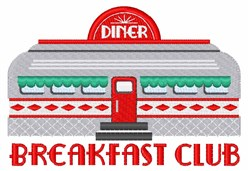 Breakfast Club embroidery design